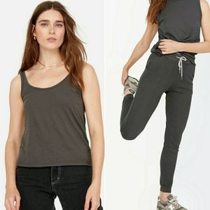 MATE THE LABEL charcoal tank and joggers set